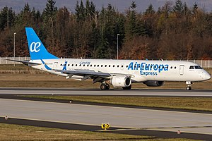 Air Europa Express - An Air Europa Express Embraer E195LR at Frankfurt Airport.