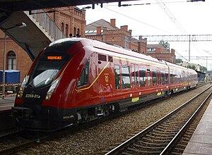 Przewozy Regionalne - An ED59 unit in Skierniewice. This unit currently services InterRegio trains between Warsaw and Łódź