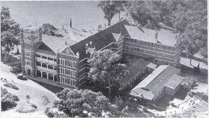 Edmund Rice Administration Wing - Image: ERAW 1949 temp buildings