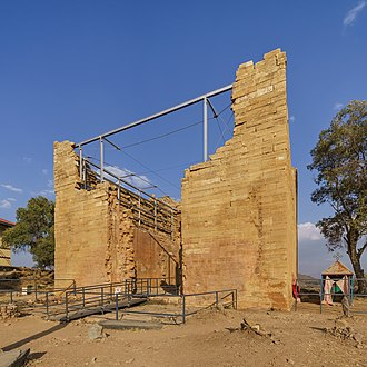 Architecture of Ethiopia - The ruin of the temple at Yeha, Tigray Region, Ethiopia.