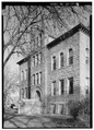 EXTERIOR, WEST SIDE FROM SOUTHWEST - Union County Courthouse, Courthouse Square, Elk Point, Union County, SD HABS SD,64-ELPO,1-13.tif