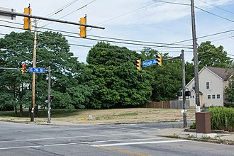 Hough riots - Now-empty lot at the intersection of E. 79th Street and Hough Ave. where the Seventy-Niner's Café once stood