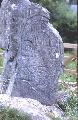 Clach an Tiompain - Image: Eagle Stone geograph.org.uk 8563