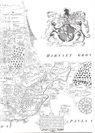 Noel Park - Image: Earl of Dorset map western section (high res)