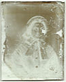 Early ambrotype, restoration step 2 (reverse) (6089855087).jpg
