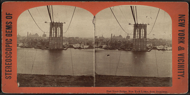 File:East River bridge, New York Lower, from Broadway, from Robert N. Dennis collection of stereoscopic views.jpg