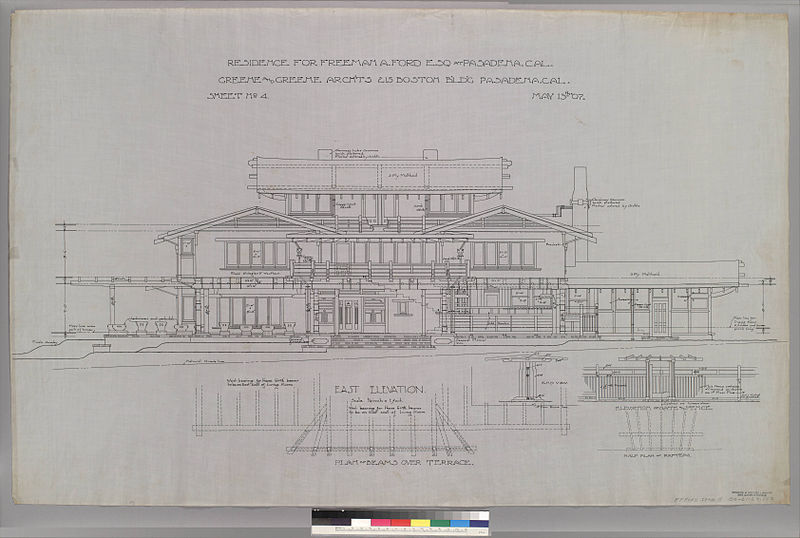 East Elevation Plan : File east elevation of gate and fence plan