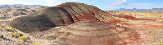 East face of the Painted Hills in the John Day Fossil Beds National Monument.