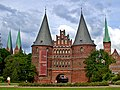 East to Holstentor and ominous clouds May 2002 - panoramio.jpg