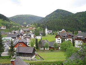 View over the village of Ebene Reichenau