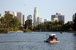 Los Angeles skyline viewed from Echo Park