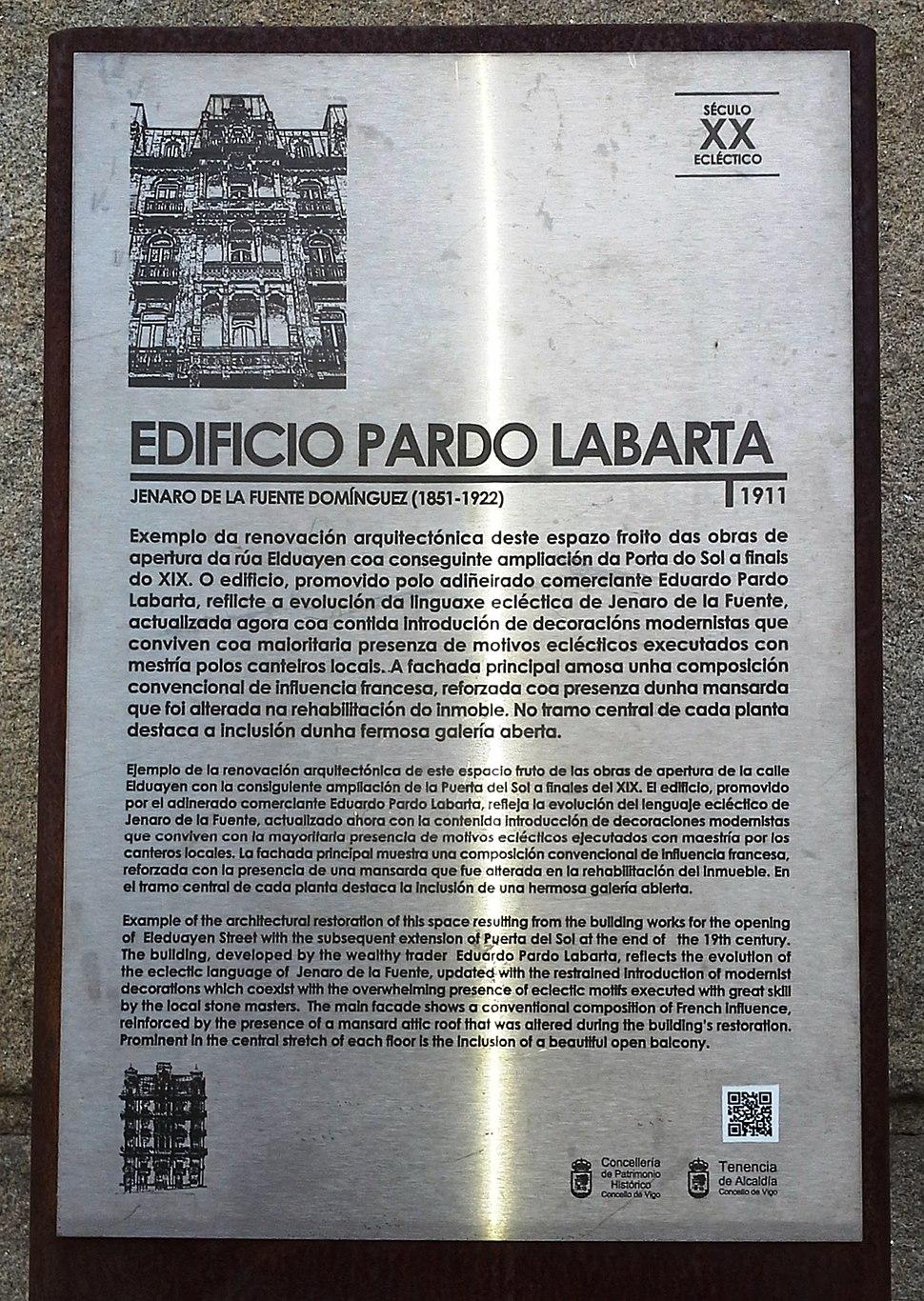 Placa instalada polo concello