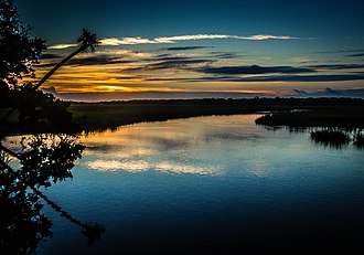 Edisto Beach State Park - Sunrise at Edisto Beach State Park, September 2012