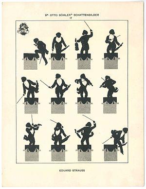 "Eduard Strauss - ""Edi"" Strauss, silhouette by Otto Böhler"