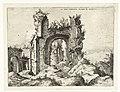 Eerste gezicht op de Thermen van Caracalla Ex Rvinis Thermarvm Antonii Pii (titel op object) Romeinse ruïnes (serietitel), RP-P-1882-A-6455.jpg