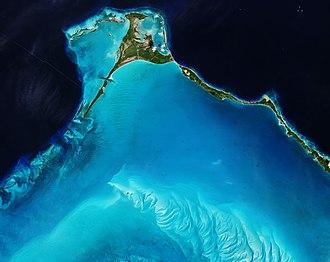 Egg Island (Bahamas) - Satellite image of Egg Island in March 2018