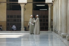 Egypt, Cairo, Islamic scholars in the courtyard of Al-Azhar University.jpg