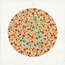 Eight Ishihara charts for testing colour blindness, Europe Wellcome L0059161