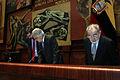 El presidente de la Asamblea Nacional, Fernando Cordero Cueva, recibió la visita de Diego García Sayán, Leonardo Franco y Pablo Saavedra, presidente, vicepresidente y secretario de la Corte (5188017030).jpg