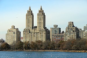The Eldorado - The Eldorado, seen across Jacqueline Kennedy Onassis Reservoir in Central Park, contributes to the much-photographed skyline of Central Park