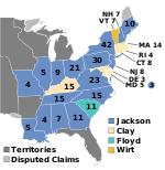 Electoral map, 1832 election