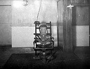 An early electric chair, circa 1910