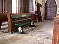 Elsbridge station bench in Elsworth church - geograph.org.uk - 904063.jpg