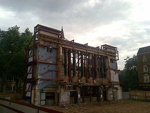 Empire Cinemas - The remaining facade of the cinema, following demolition of the main building
