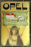 Enamel advertising sign, Opel motorwagen.JPG