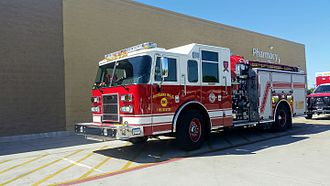 Fire engine - Modern fire engine in Richland Hills, Texas