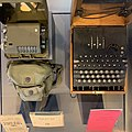 Enigma and Decoder (from above) at Discovery Park of America.jpg
