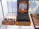 Enigma machine in Berlin Gatow Luftwaffe museum.jpg