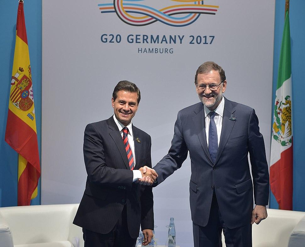 Enrique Peña Nieto and Mariano Rajoy at the 2017 G-20 Hamburg summit (2)