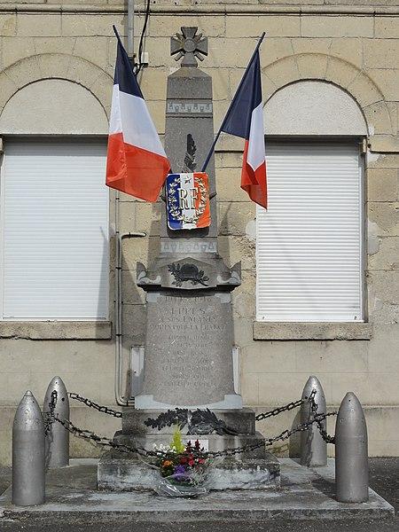 Eppes (Aisne) monument aux morts