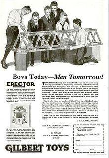 Erector Set brand of metal toy construction set