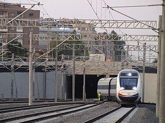 Eskişehir railway station - Image: Eskisehir gar gecisi