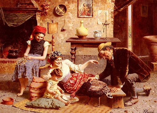 Eugenio Zampighi A Happy Family