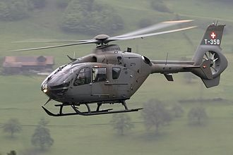 Portuguese Army Light Aviation Unit - A Swiss EC635, a helicopter initially developed to address the specific requirements of the Portuguese Army, but that ended not to be used by it.