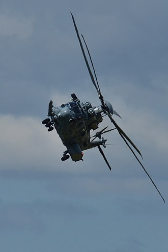 Eurocopter EC725 - EC725 in flight at a steep angle, France, 2013