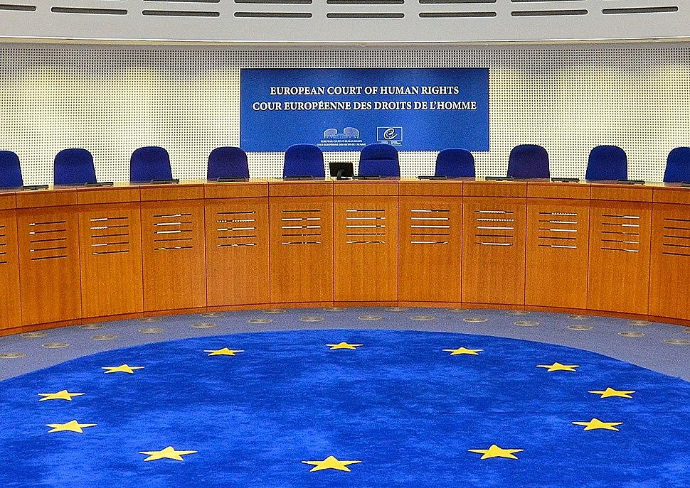 European Court of Human Rights, courtroom, 2014 (cropped)