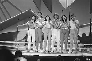 Prima Donna (UK band) - Prima Donna during rehearsal for Eurovision Song Contest 1980