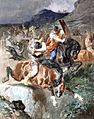 Evariste-Vital Luminais - Combat de cavaliers francs.jpg
