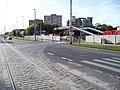 Evropská, staveniště metra Červený Vrch, zbytek tramvajové smyčky.jpg
