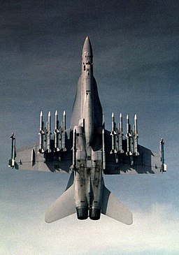 F-18C of VX-4 with 8 AIM-120 missiles in 1992
