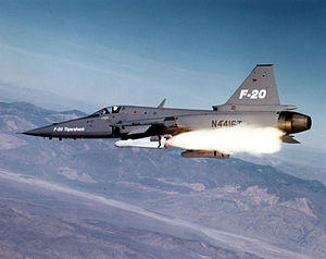 Northrop F-20 Tigershark - Image: F 20 Tigershark launching AGM 65 Maverick