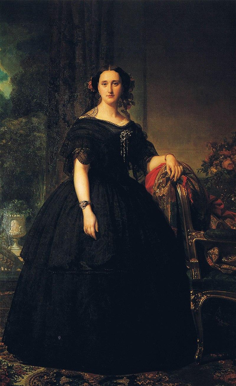 F. de Madrazo - 1858, Bárbara de Bustamente y Campaner (Colección particular, 202 x 126 cm).jpg