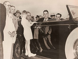 Richard W. Leche - Leche sits beside President Roosevelt at dedication of improvements in City Park in New Orleans in 1937.