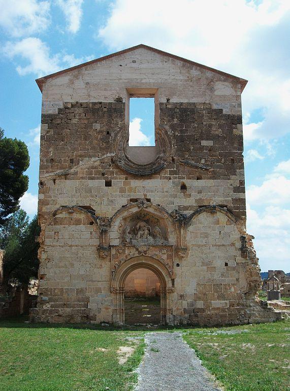 File:Façana de lesglésia de la Mare de Déu dels Àngels, cartoixa de Vall...