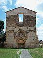 Façana de l'església de la Mare de Déu dels Àngels, cartoixa de Valldecrist.JPG