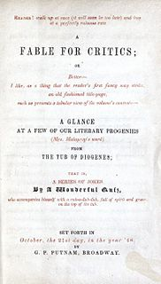 <i>A Fable for Critics</i> poem written by James Russell Lowell